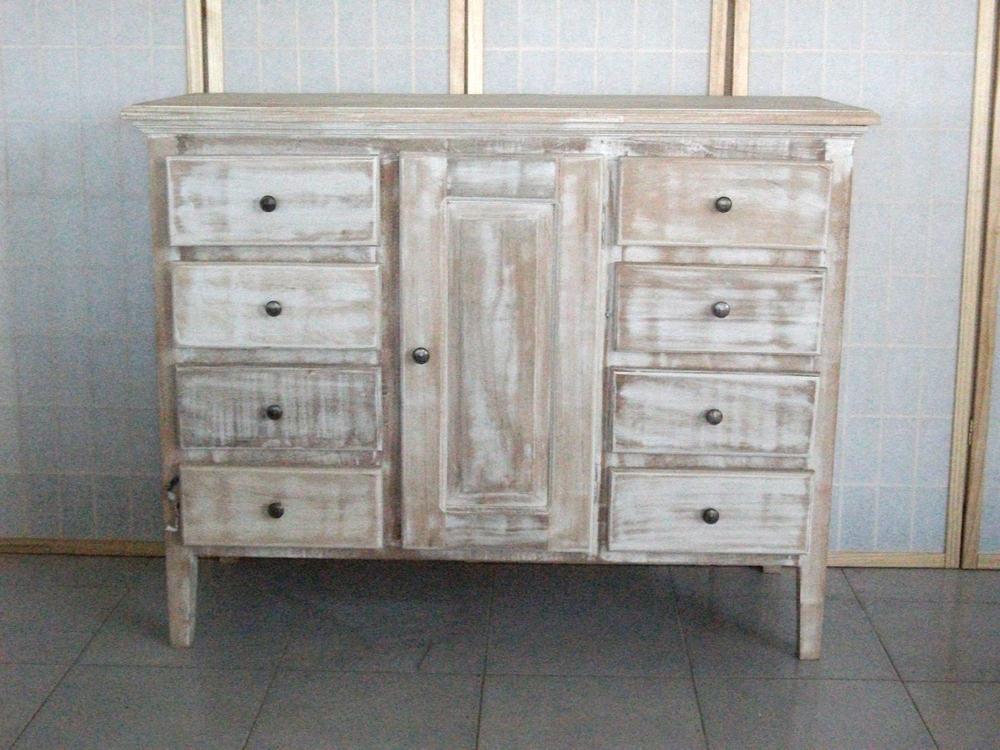 BUFFET SHABBY CHIC DECAPATO BIANCO MJ102 mobile coloniale ...