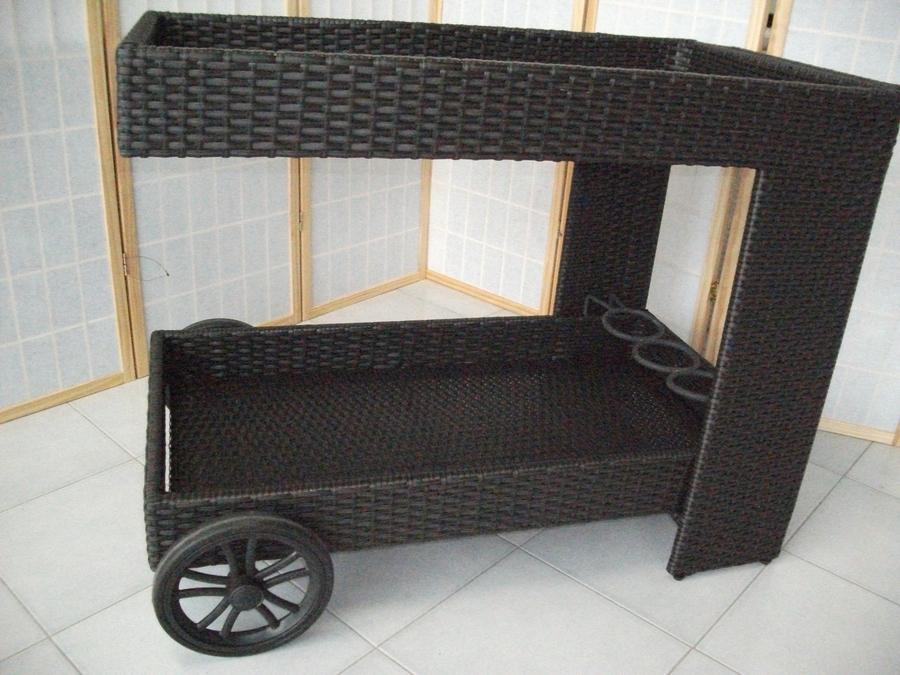 Rattan sintetico esterno mobili giardino - Carrello portavivande da giardino ...