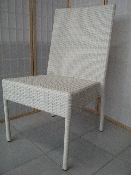 Sedie In Rattan Sintetico.Sc 7023b Sedia Bianco Rattan Sintetico Polypeel Sedia Rattan