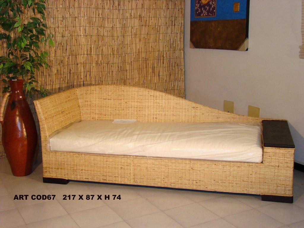 Divani rattan midollino naturale bambu banano interno e esterno Dal ...