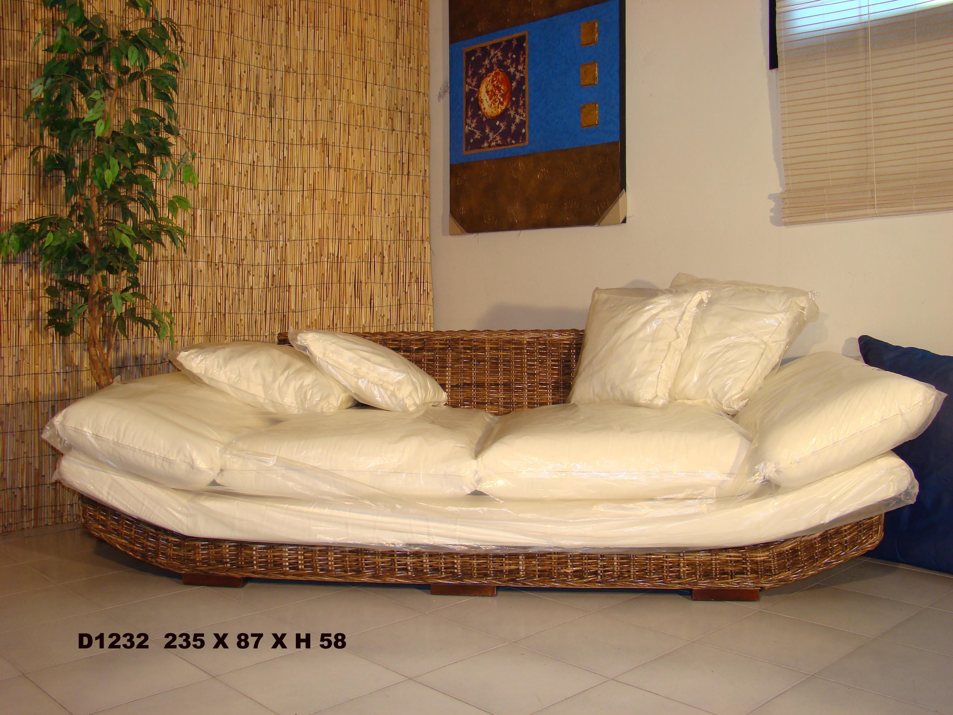 Dal pozzo dal pozzo andrea arredamento divani rattan giunco banano vimini dal pozzo shop on - Divano in vimini ...