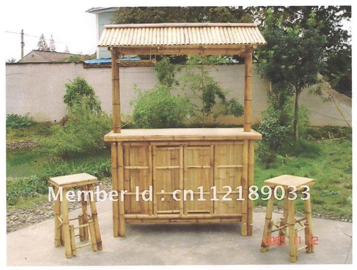 Sik mobile bar bambu mobile bar rettangolare in bambù cm