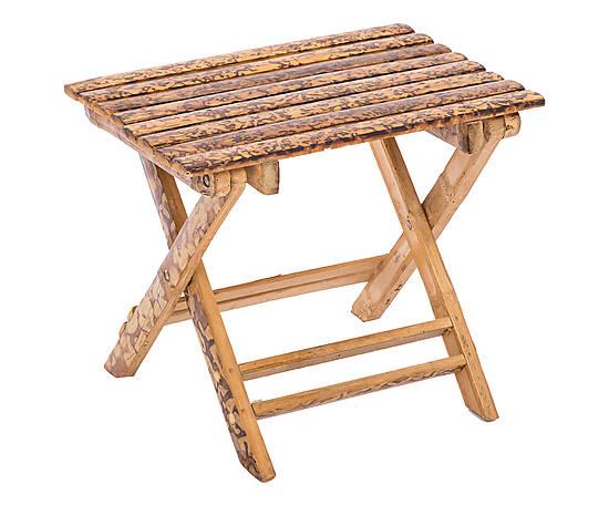 W sgabello pieghevole in bamboo cm sgabello bambu w