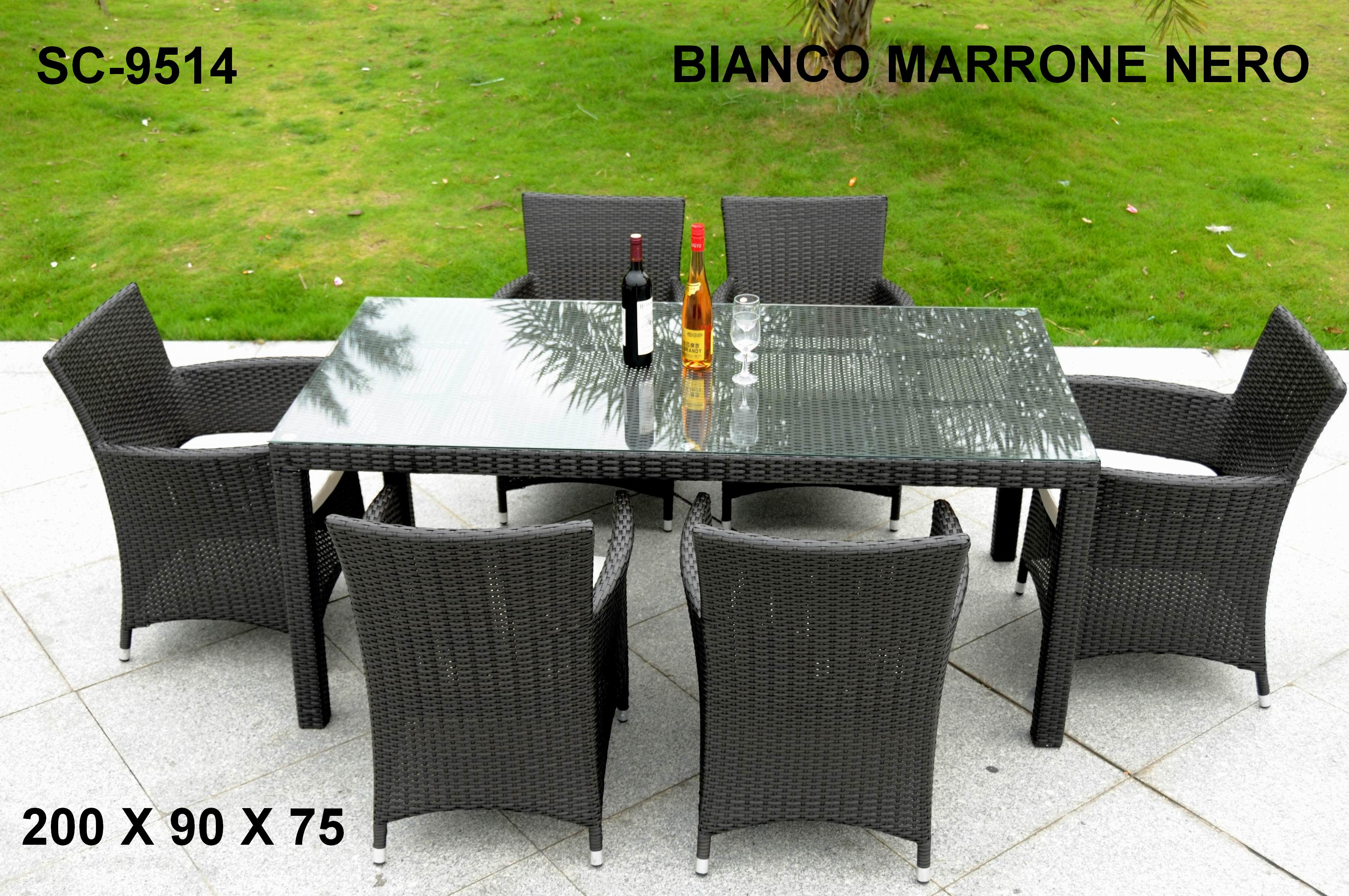 Salotto set da giardino rattan light tete a tete antracite