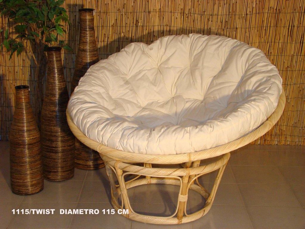 Arredamento midollino rattan bambu vimini dal pozzo argenta - Cuscini per poltrone da giardino ...
