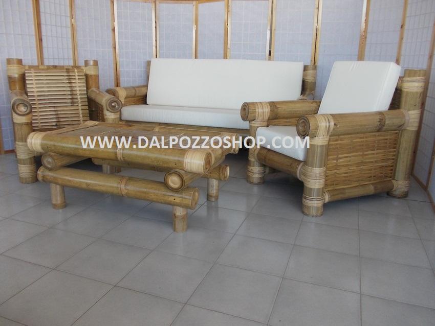 Arredamento midollino rattan bambu vimin naturale dal for Divani arredo giardino