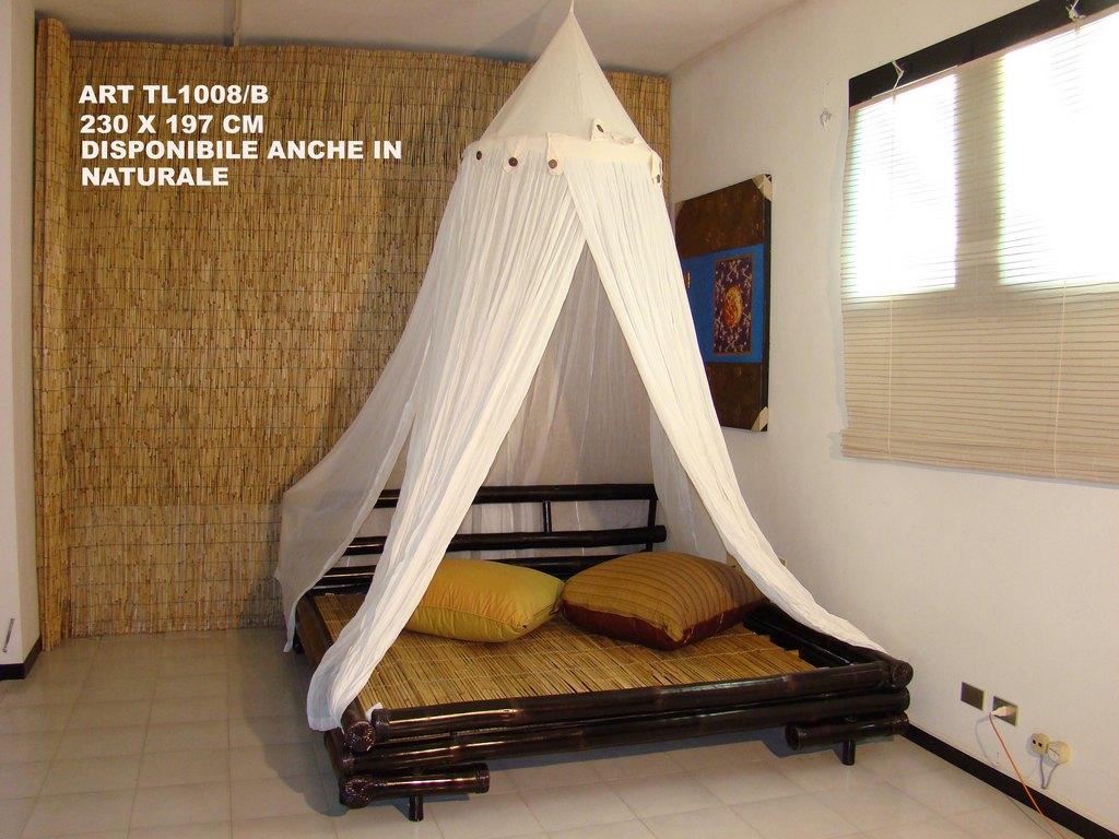 Letto Baldacchino Bambu.Letto Matrimoniale Bambu Naturali