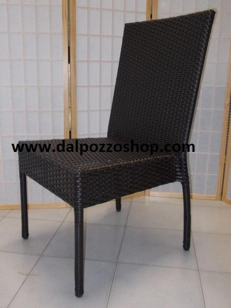 Sedie In Rattan Sintetico.Mobili Arredamento Giardino Per Esterno Poltrone Rattan