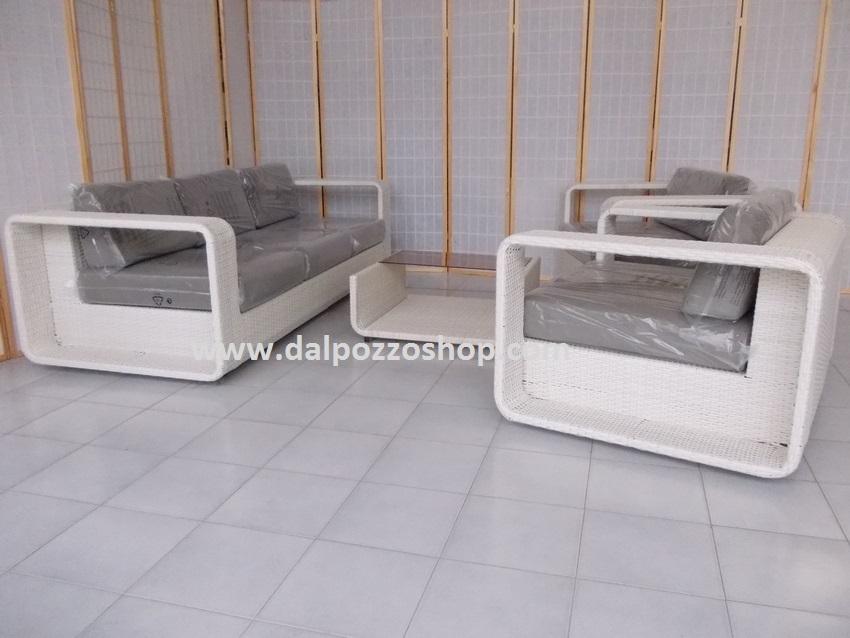 Salotto Da Giardino Bianco.Salotti Da Giardino Esterno Arredamento Rattan Sintetico