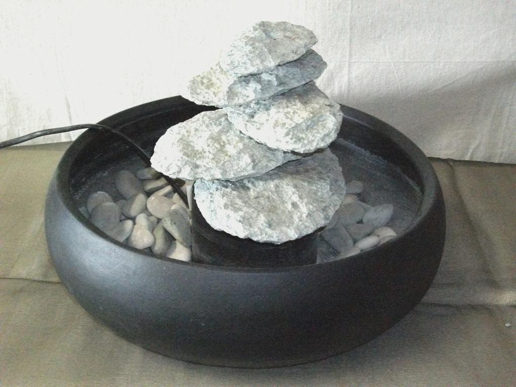 Fontane zen in marmo sasso bambu etnico - Fontana zen da tavolo ...